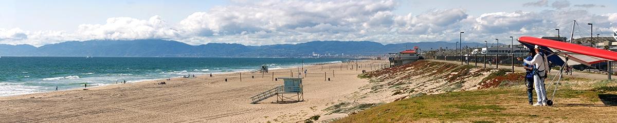 web El Segundo Beach w-Hang Glider